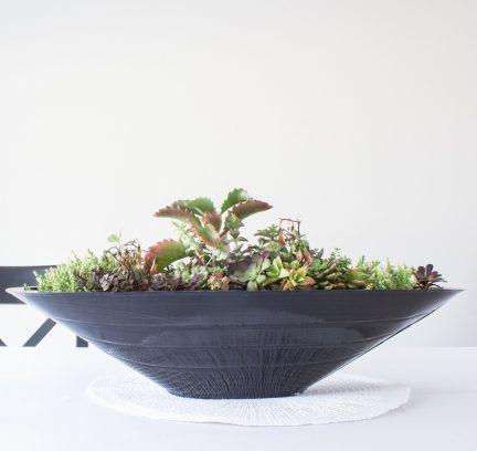 industrial tin boat planter