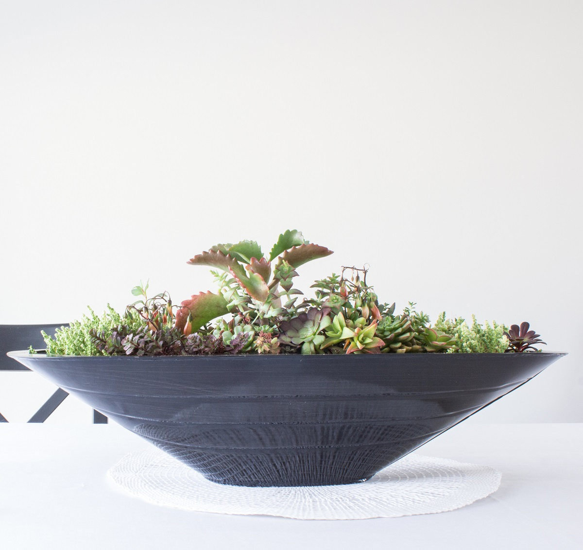 industrial tin boat planter