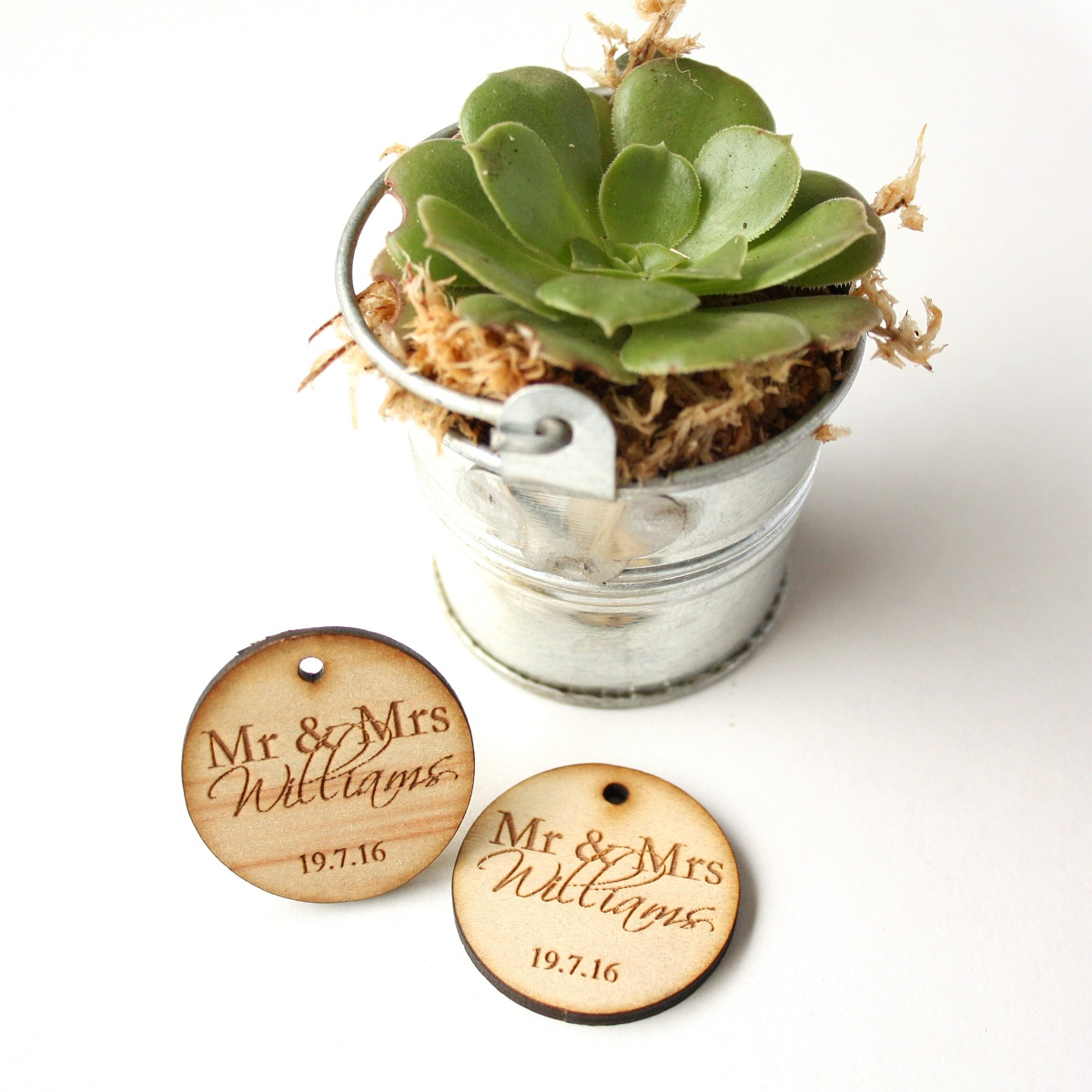 Personalised Timber Wedding Favour Tags