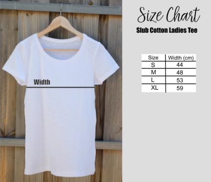 Size chart tee