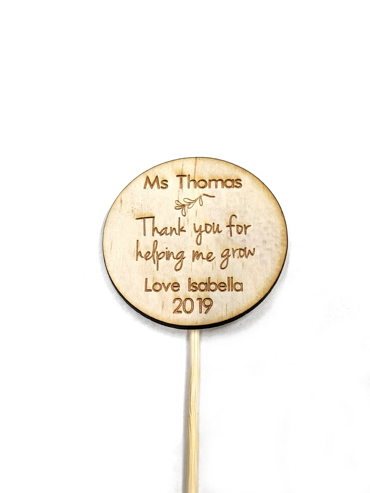 Personalised 'Thank you Teacher' plant spike